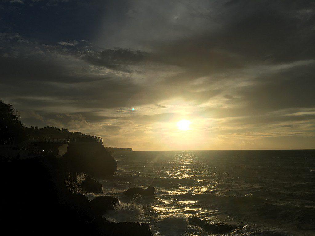 Rock Bar Baliからの夕陽
